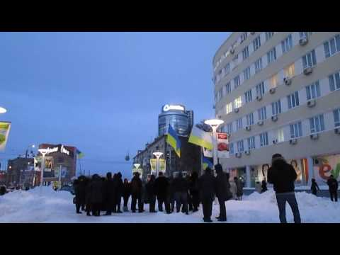Protest in Dnipropetrovsk, Ukraine