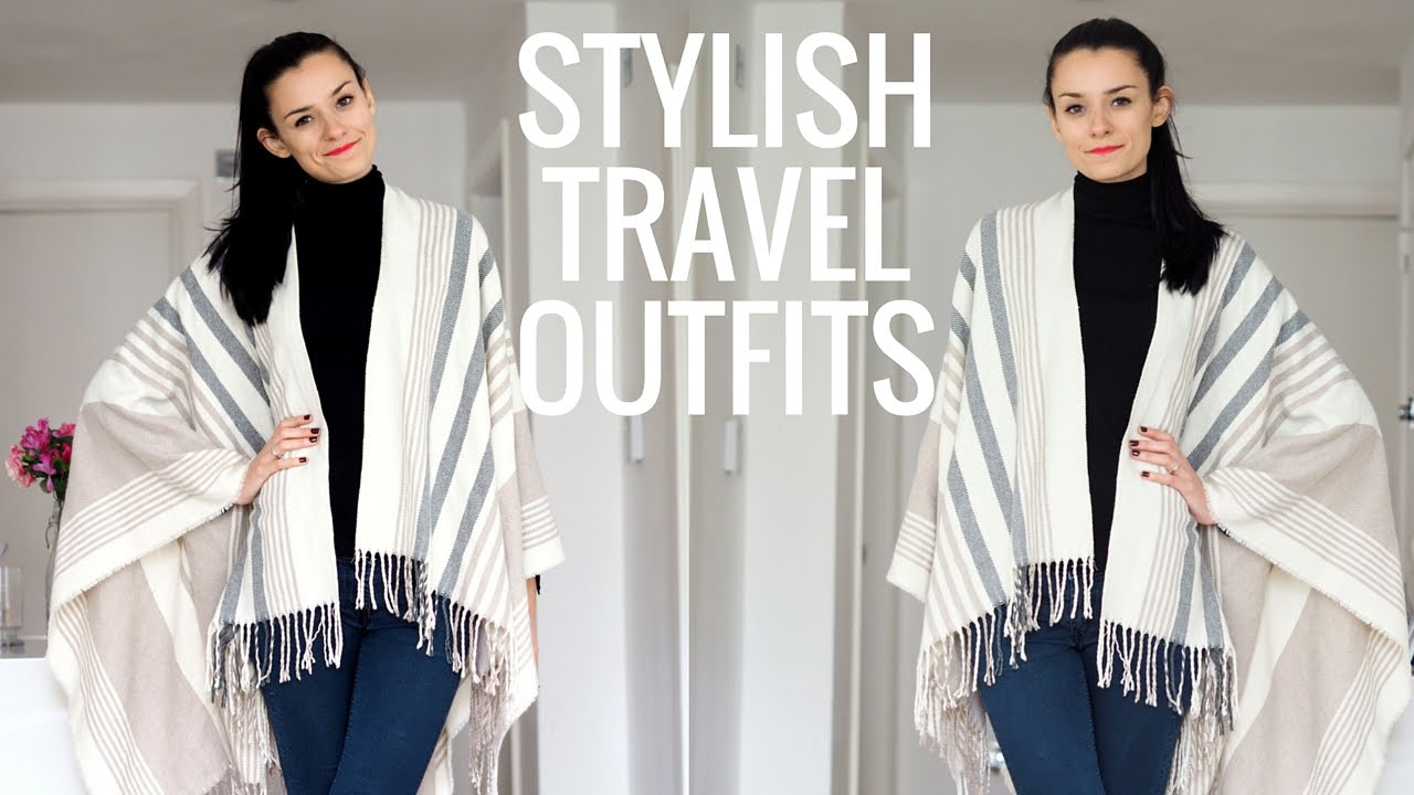 ab6e4df1dd0 4 Stylish Travel Outfit Ideas for Fall Winter Travel - YouTube