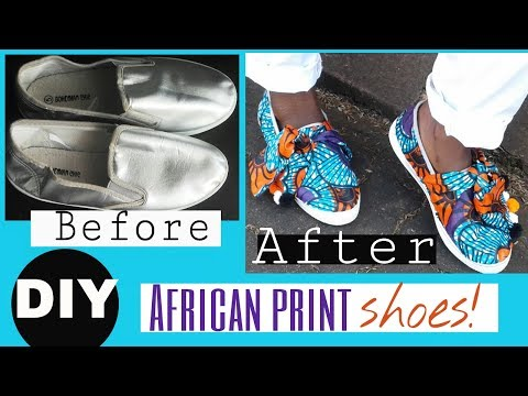 How to cover Shoes with African Print- Designer Inspired