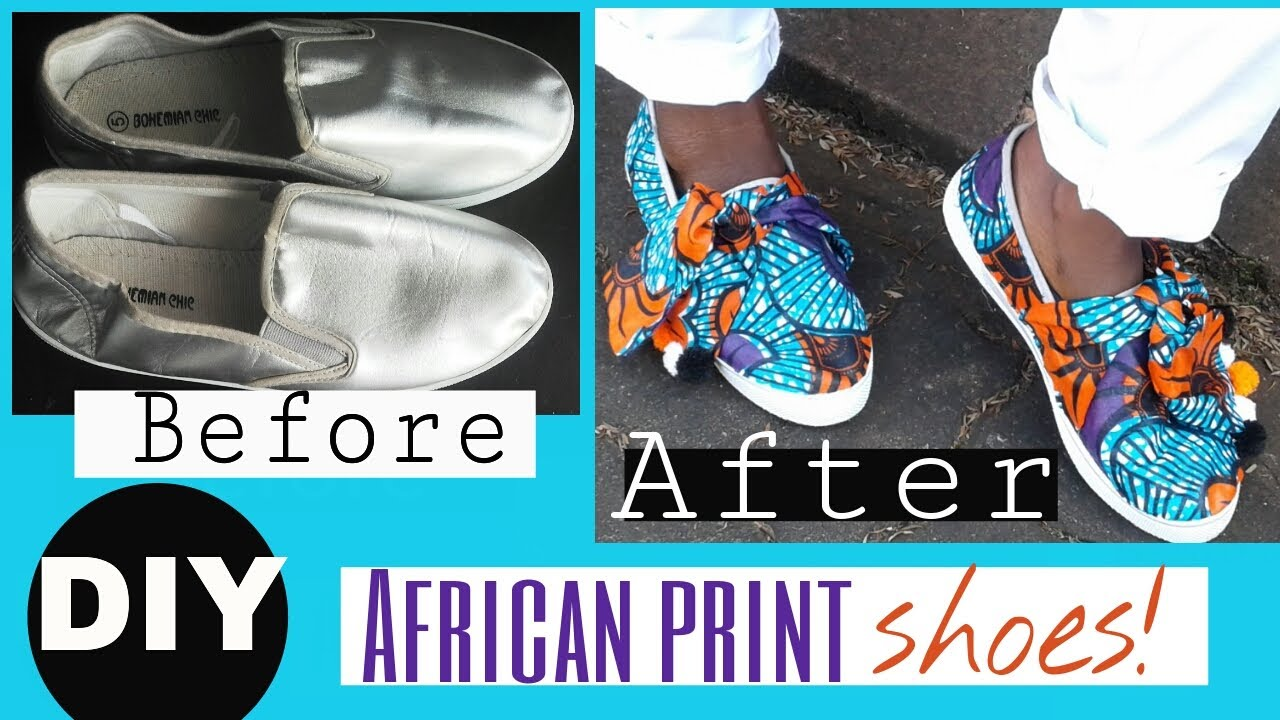 1e2e464090ba How to cover Shoes with African Print- Designer Inspired - YouTube