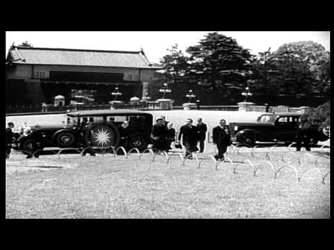 Emperor Hirohito addresses the people at a park in Japan. HD Stock Footage