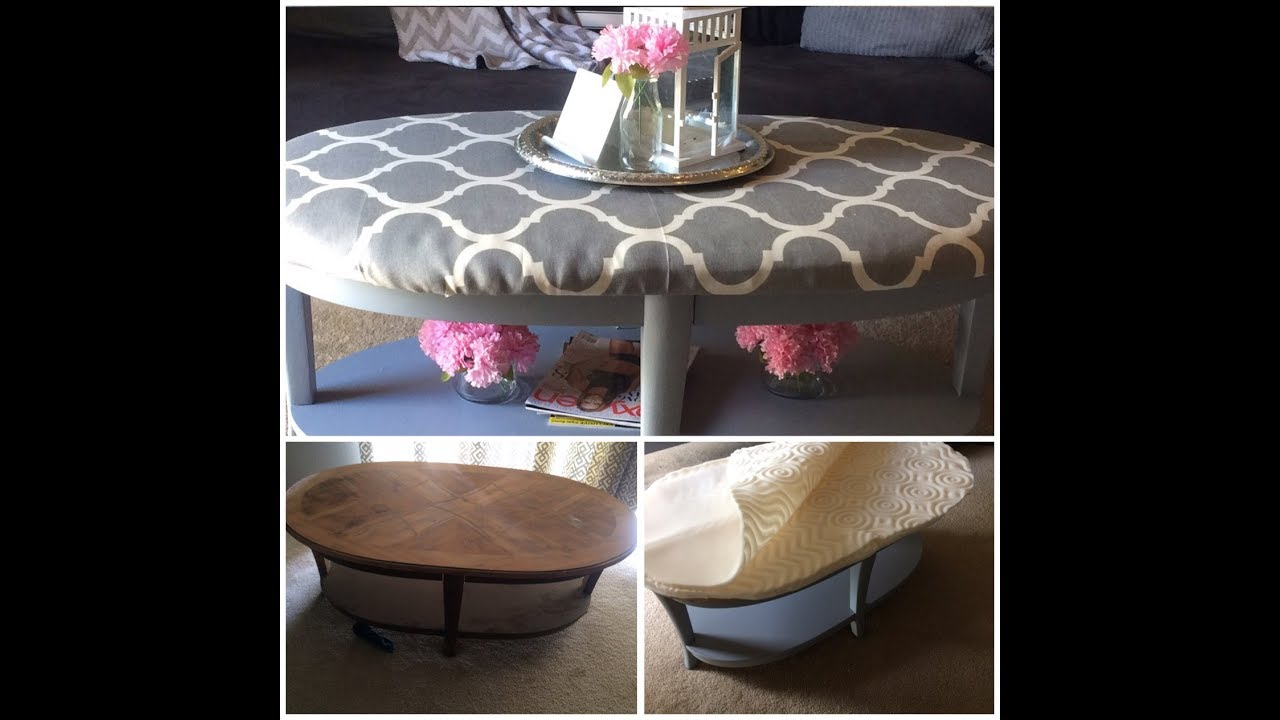 DIY Turn A Coffee Table Into An Ottoman | $13 Tutorial | Faux Posh