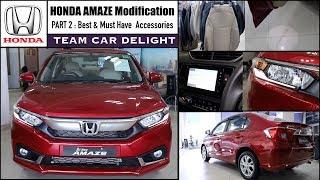 Honda Amaze Fully Modified with Best Accessories | Amaze Accessories List l Amaze alloys