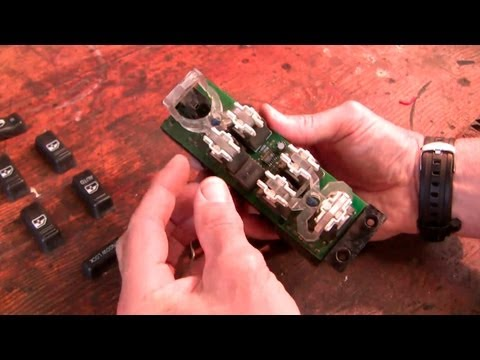 How to fix the Chev power window door lock switch