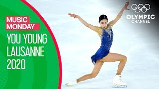 You Young's Free Skate to Madonna's Evita at the Lausanne 2020 Youth Olympics | Music Monday