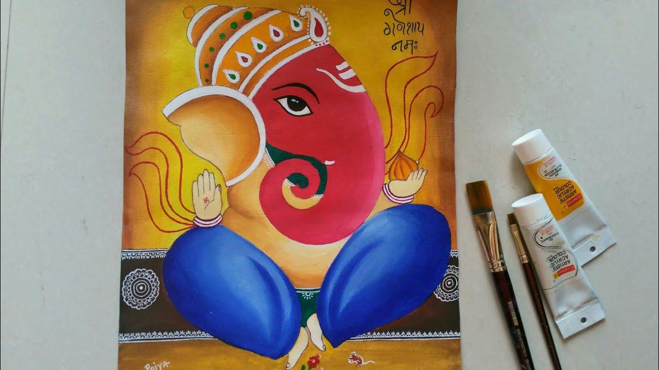 Easy Step By Step Ganesha Painting Abstract Acrylic Painting How To Make Abstract Ganesha Youtube Vintan lord ganesha ganpati matte texture uv effect non breakabel. easy step by step ganesha painting abstract acrylic painting how to make abstract ganesha