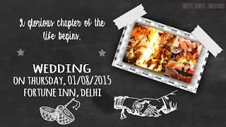 Wedding Invitation Video - Chalk Board Theme Traditional Version