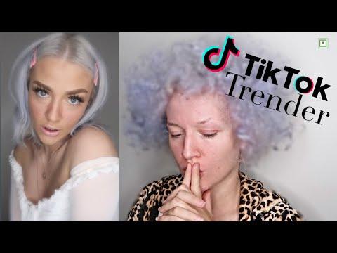 Jeg Ødela Håret Mitt For TikTok /Prøver TikTok Trender