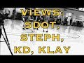 Views from practice: Steph Curry, Quinn Cook, KD (Kevin Durant) and Klay, day after Media Day