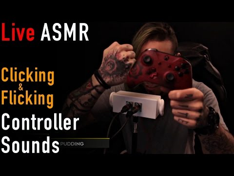Live ASMR | #65 | Controller Sounds | Button Clicking & Stick Flipping