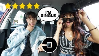 PICKED UP my BOYFRIEND in an UBER UNDER DISGUISE! (shocked)