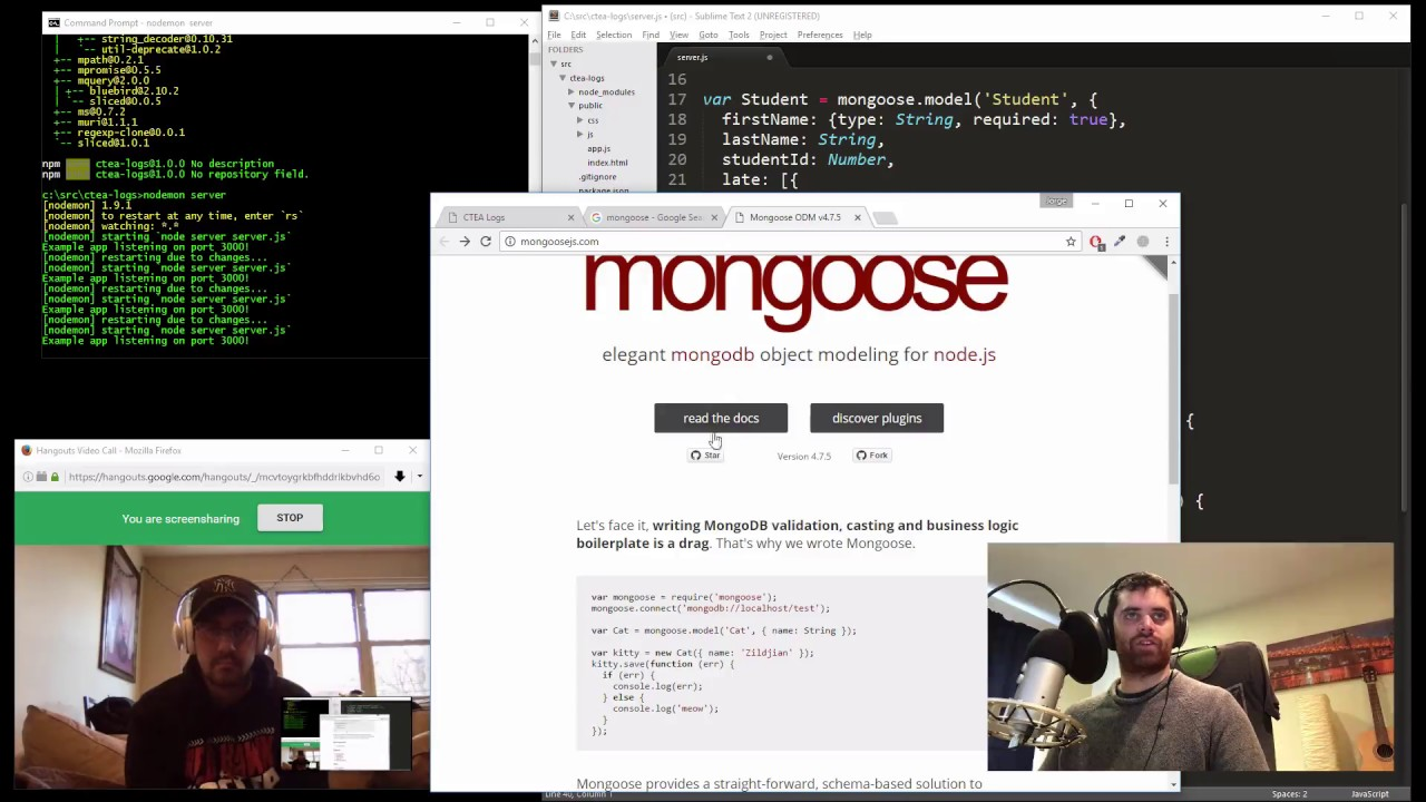 4/4: Using MongooseJS to push objects onto sub-arrays