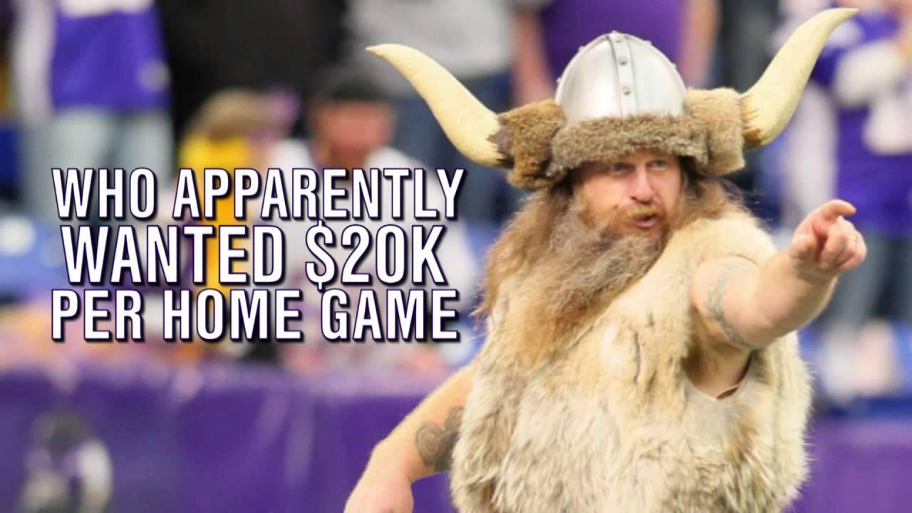 Minnesota Vikings Mascot Wanted 20k Per Game Loses Gig