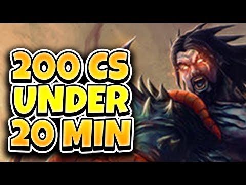 200 CS UNDER 20 MINUTES!! HOW TO HAVE IMPACT WITHOUT YOUR TEAM - League of Legends Full Gameplay