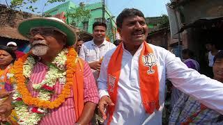 Rantidev Sengupta vote campign at Madhya Howrah Belelious Road