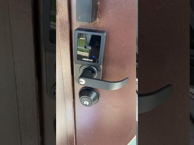 Airbnb digital lock installed Melbourne in Matt Black - Human Key Locksmiths