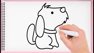 How to Draw Cute Dog Step by Step Learn How to Draw a Cute Dog Very Easy for Kids