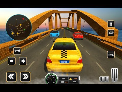 Uphill Crazy Taxi Driving: USA City Cab Sim 2018