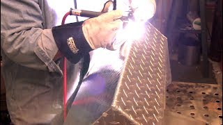 Welding Aluminum Tread Plate - Tote Tray Project