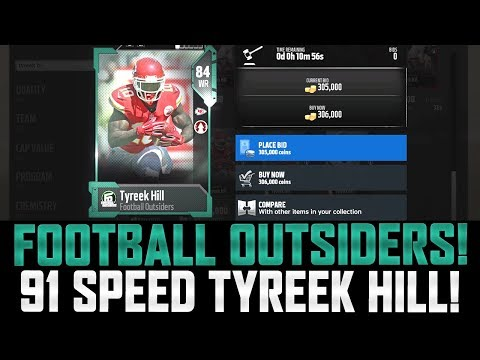 MUT 18 FOOTBALL OUTSIDERS! | 91 SPEED HILL! RIPPIN PACKS 100K PULL!