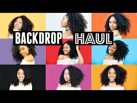 HUGE Backdrop Haul!!| Backgrounds for YouTube Videos!