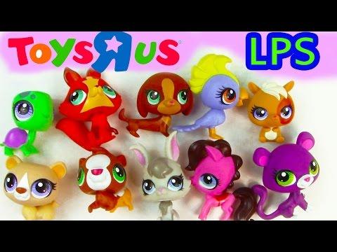 LPS Toys R Us Littlest Pet Shop Collectors 10 Pack Exclusive Set Unboxing Collection