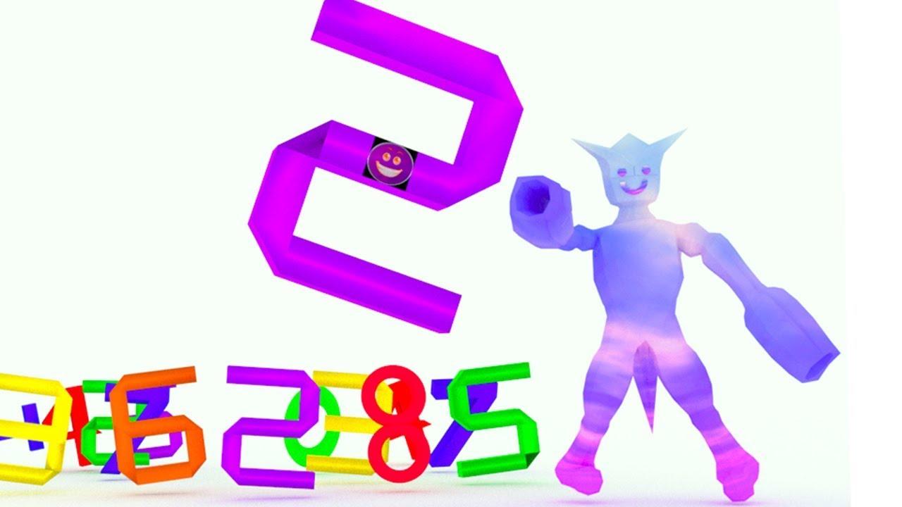 ingilizce sayıları öğreten ve renkleri öğreten çizgi film Gökkuşağı Adam