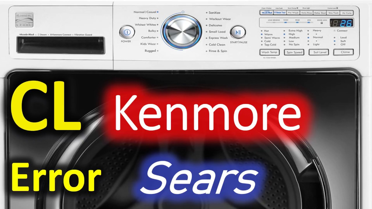 CL Error Code SOLVED!!! Kenmore 796 Front Load Washer Washing Machine