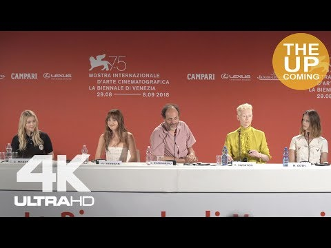 Suspiria press conference Venice: Dakota Johnson, Luca Guadagnino, Chloë Grace Moretz, Tilda Swinton