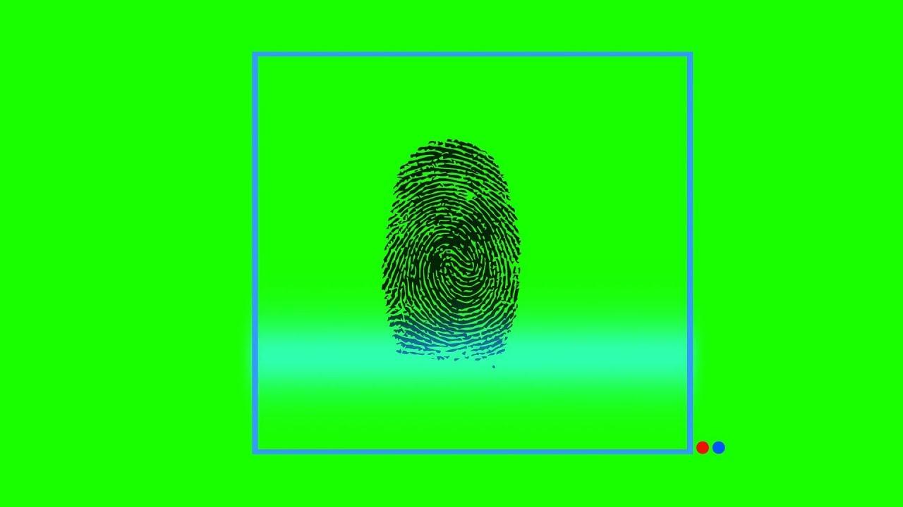 No copyright green screen | fingerprint