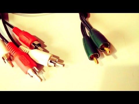 Audioquest Evergreen vs Regular RCA Interconnect Cables : sound comparison test