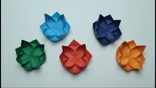 How to make a Lotus out of paper  Origami Lotus
