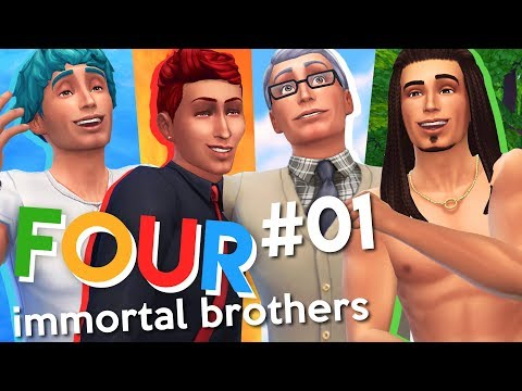 The Sims 4 | Four Immortal Brothers | Ep 1 | SPECIAL HOUSE BUILD & ART MONEY!