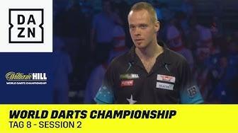 Deutsche Session Hopp und Kurz im Ally-Pally: World Darts Championship | Tag 8 - Session 2 | DAZN