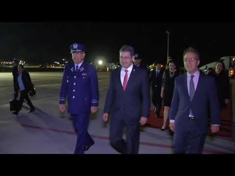 LLegada del Presidente Juan Orlando Hernandez a Chile