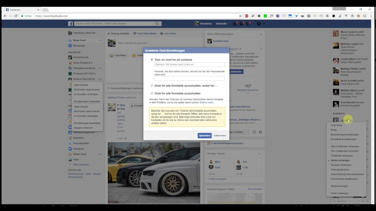 Facebook Chat Verschwunden