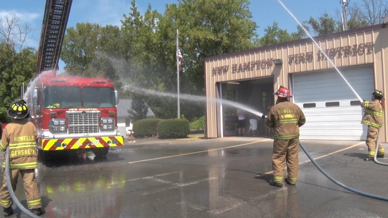 New Hampton,NY Fire Company Truck 725 Wetdown - YouTube