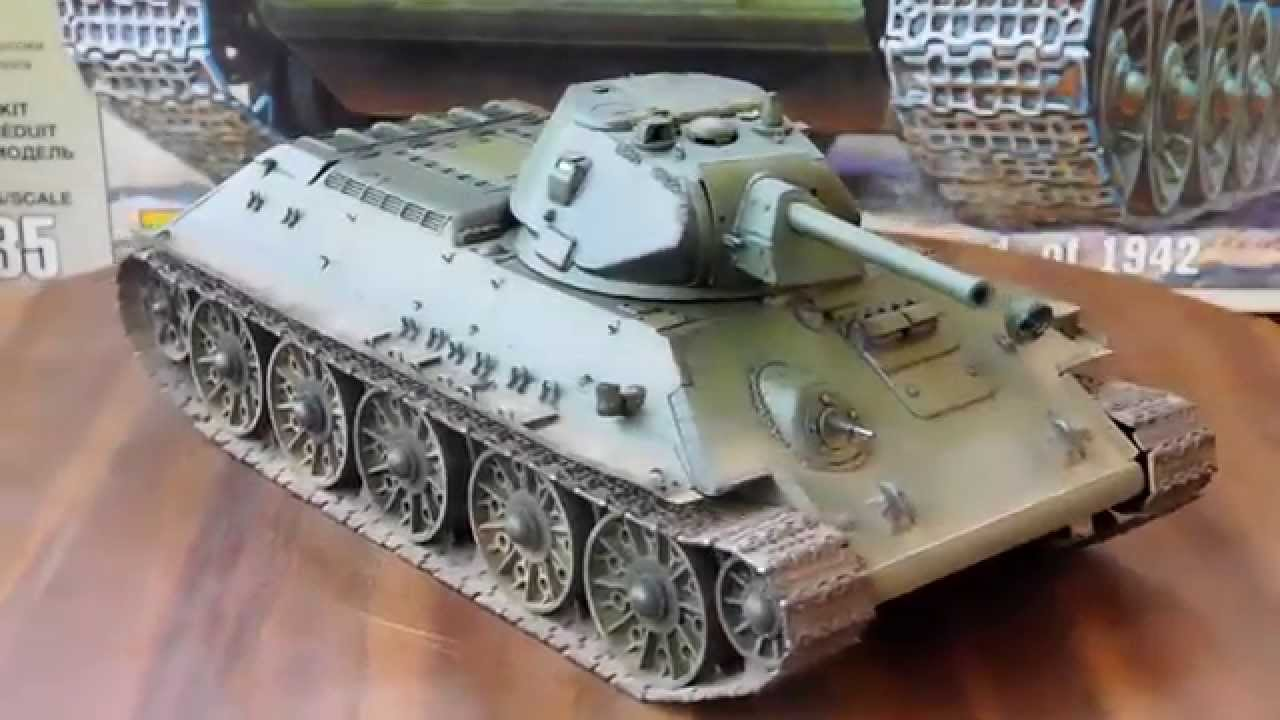 Сборные модели танков звезда 1 35 т-34