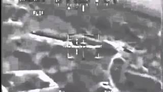 Боевой вертолет Апач ликвидирует боевиков в Афганистане(Документальная видеозапись, сделана пилотом боевого вертолета