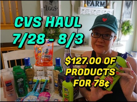 CVS HAUL (7/28 - 8/3) | $127 OF PRODUCTS FOR ONLY 78¢ 💃
