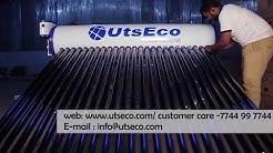 UtsEco Solar Water Heater Installation Video