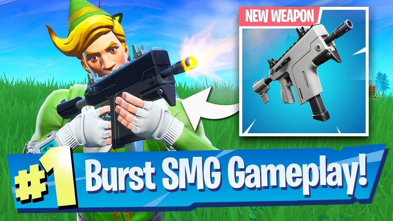 NEW Burst SMG Gameplay - Fortnite Battle Royale