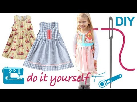 diy dirndl n hen f r anf nger mit kn pfen und sch rze zierstoff schnittmuster judith youtube. Black Bedroom Furniture Sets. Home Design Ideas
