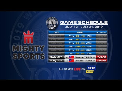 JULY 20: 41st William Jones Cup: Mighty Sports - Go for Gold Philippines vs Chinese Taipei A