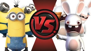 MINIONS vs RABBIDS! Cartoon Fight Club Episode 20!