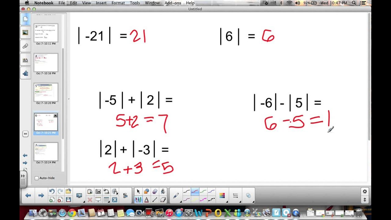 6th grade 2 1 2 2 integers and absolute value YouTube – Integers and Absolute Value Worksheet