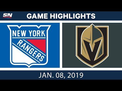 NHL Highlights | Rangers vs. Golden Knights - Jan. 8, 2019