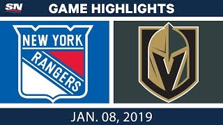 NHL Highlights | Rangers vs. Golden Knights - Jan. 8, 2019
