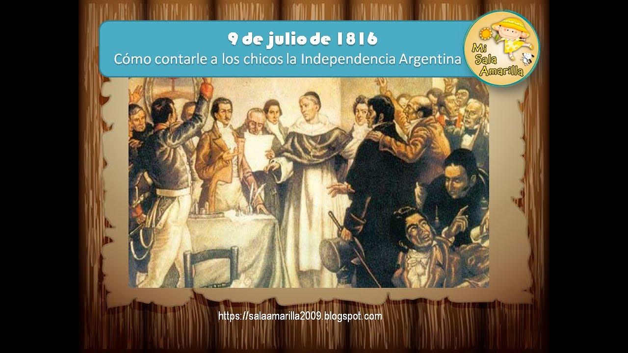 Relato para niños sobre la Declaración de la Independencia Argentina.