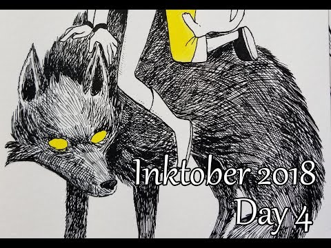 Inktober. Day 4. Daisy And Wolf Prince